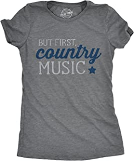 Womens But First Country Music Tshirt Cute Summer Concert Festival Tee for Ladies