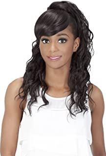 Vivica A Fox Hair Collection BP Kennedi Bang N Pony in Color Wig, 1B, 5.20 Ounce