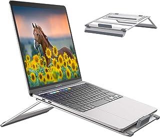 Laptop Ständer Tragbarer Laptopständer 4 Winkel Einstellbar Laptop Stand Halter Notebookständer Computer Halterung Belüfteter Kompatibel mit 10 15,6 Zoll Laptops