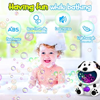 WisToyz Bubble Machine Dog Bubble Blower 500+ Bubbles Per Minute, Bubble Machine for Kids Toddlers Boys Girls Baby Ba...