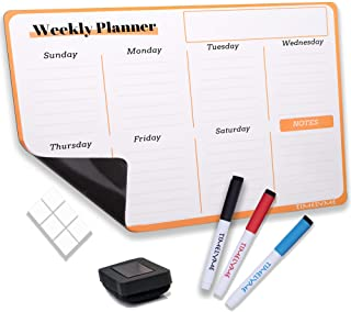 Magnetic Dry Erase White Board Weekly Planner Set for Fridge & Wall, Shopping List, Daily Planner, Notes, To-Do List, Menu...