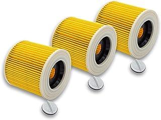 vhbw 3 x set patronfilter ersättning för Kärcher 6.414-552.0 kompatibel med Kärcher våtdammsugare torrdammsugare, dammsuga...