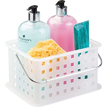 iDesign Storage Organizer Basket, for Bathroom, Health and Beauty Products - Small, Frost