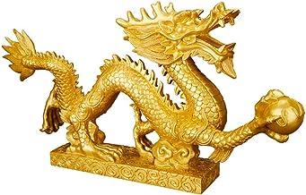 Sculptuur Decoratie - Mode Creatieve Chinese Gelukkige Draak Gouden Hars Decoratie Thuis Woonkamer Slaapkamer Studeerkamer...