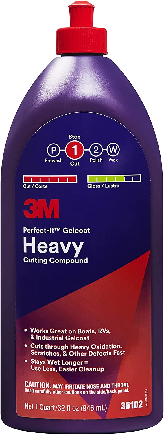 3M Perfect-It Gelcoat Heavy Cutting Ranking TOP4 36102 Fi 1 Compound Max 90% OFF Quart