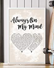 Kodora Always On My Mind Song Lyrics Grunge Couple Heart Portrait Poster Print Wall Art (12