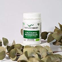 NaturoBest Calcium & Magnesium Plus K2 & D3 Powder | Vegan-friendly, High Potency Calcium and Magnesium with Co-Factor Vit...