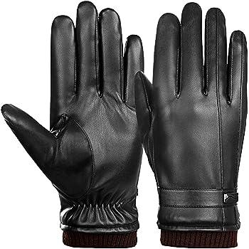 ARZER 手袋 メンズ 革 裏起毛 スマホ対応 紳士 冬 柔らか 肌触り良い