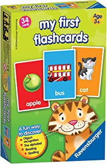 Ravensburger My First Flash Card Game for Kids Age 3 Years and Up - Ideal for Object Recognition, Alphabet, Reading and Sp...