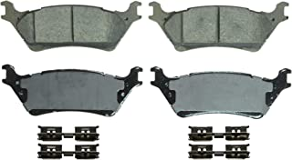 Wagner QuickStop ZD1602 Ceramic Disc Pad Set Includes Pad Installation Hardware, Rear