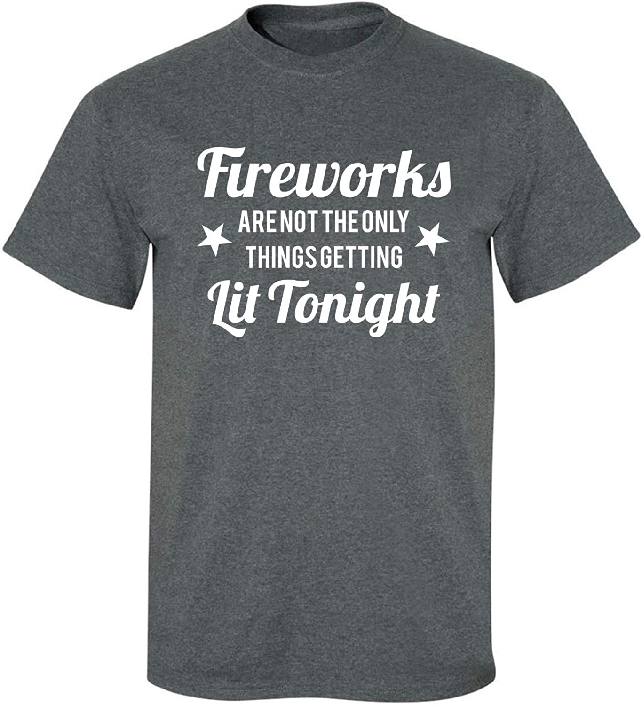 zerogravitee Fireworks.Getting Lit Tonight Adult Short Sleeve T-Shirt