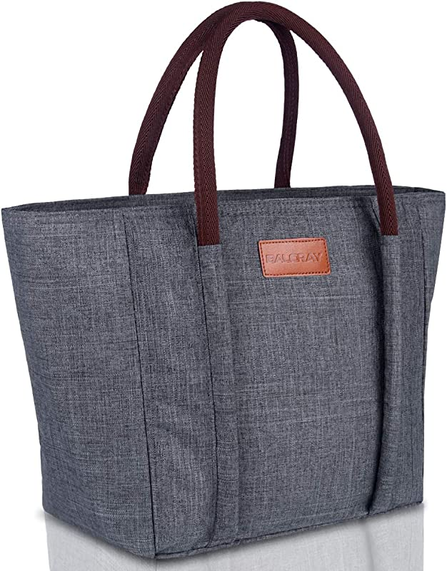 BALORAY Insulated Lunch Bag Leak Proof Cooler Bag Lunch Bag For Women Lunch Tote Bag G 215 Grey