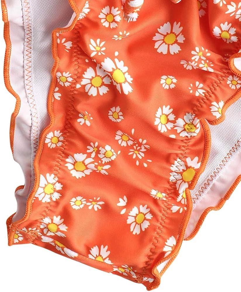 ZAFUL Women Swimsuit Smocked Frilled Bathing Suit Daisy Tie Dye Bikini Set