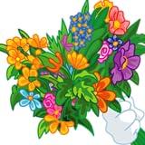 バレンタイン、3月8日、結婚式、誕生日に少年少女の任意の年齢のための楽しさと創造アプリ - 美しい花でブーケを作ります