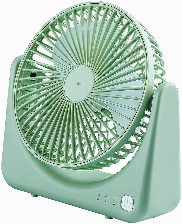 DOBRE Ventilador de mesa portátil, enfriador de mesa para acampar, de pie, ajustable, ventilador de aire alimentado por USB, para oficina, hogar, cama, dormitorio, guardería, interior (verde)