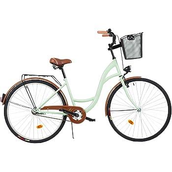 2018 Comfort Bike con Cesto Menta Milord 28 Bicicletta da Citt/à Donna 3 Velocit/à