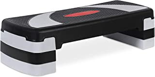 Best Choice Products 30in Height-Adjustable Aerobic Step Platform Riser Exercise Accessory w/ 3 Levels, Non-Slip Surface - Black