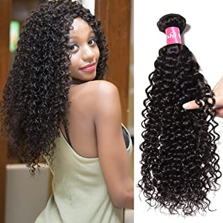 10A Brazilian Virgin Human Curly Hair Weaving 1 Bundle 24 Inch 100% Unprocessed Remy Hair No Tangle 100g Natural 1b Color