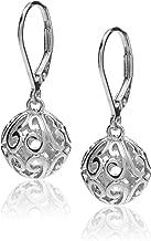 diamond leverback earrings