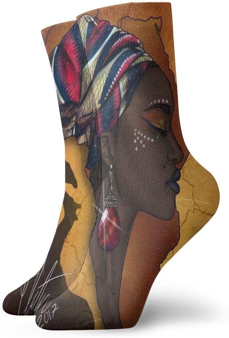 Unisex Casual Ethnic Diamond Earrings Socks Moisture Wicking Athletic Crew Socks
