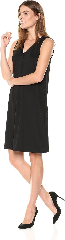 Kasper Women's Ribbed Knit V Neck Shift Dress