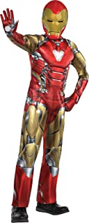 Party City Avengers: Endgame Iron Man Muscle Costume for Children, Includes a Jumpsuit, a Mask, and Gloves