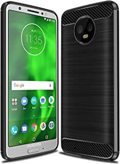 Moto G6 Case, Moto G (6th Generation) Case, Sucnakp TPU Shock Absorption Technology Raised Bezels Protective Case Cover for Motorola Moto G6 5.7 Inch(Black)