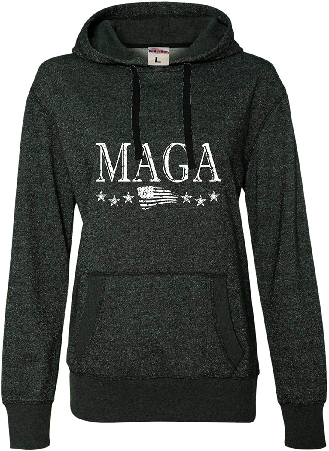 Award-winning store Go All Out Womens Max 85% OFF MAGA Hoodie Glitter America First