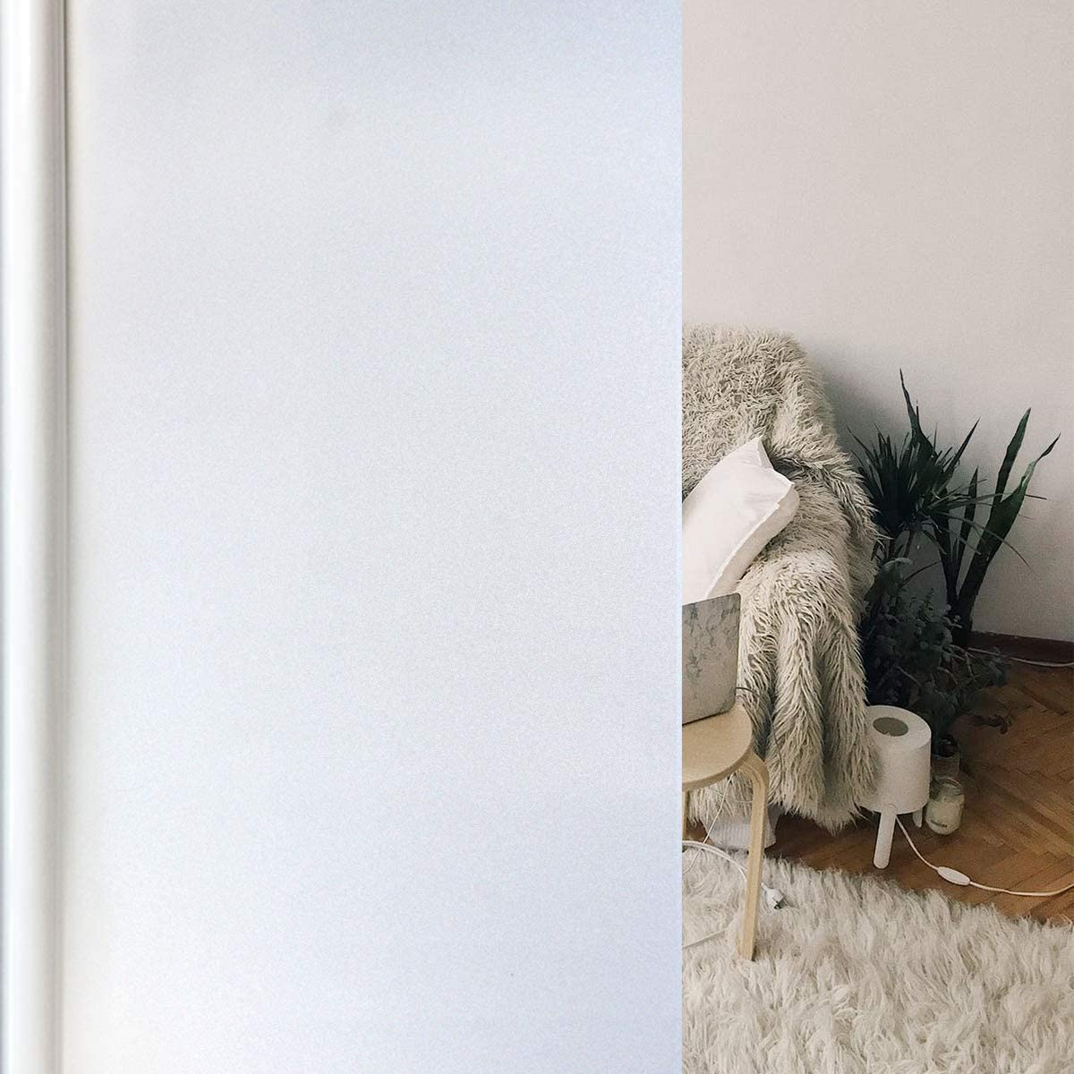 EVERYTHRY Window Privacy Film Frosted Max 76% OFF Sticker Static Clin Ranking TOP20