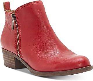 Lucky Brand Women's Basel Ankle Bootie (7.5, Garnet Waxy Rifinito)