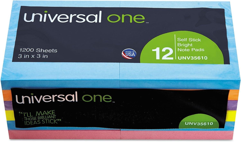 Standard Self-Stick Bright Pads, 3 x 3, 4 Farbes, 12 100-Sheet Pads Pack B000GLSFQ4 | Neuheit