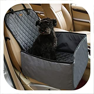 White Island Waterproof Travel 2 in 1 Carrier for Dogs Folding Thick Pet Cat Dog Car Booster Seat Cover Outdoor Pet Bag Hammock,Gray,M