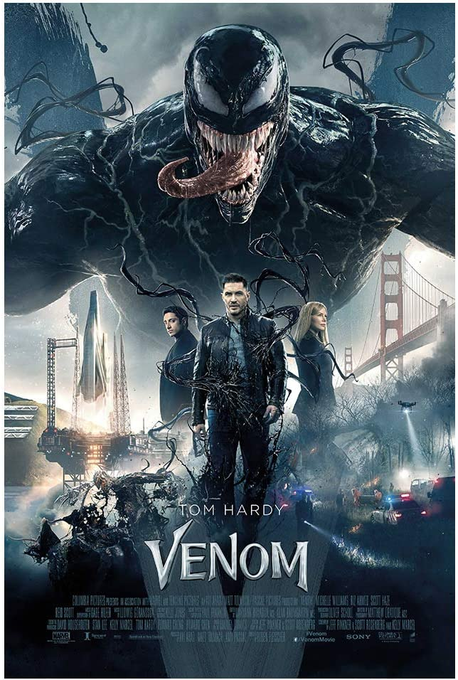"""Amazon.com: Venom (Tom Hardy, 2018) Movie Poster - Size 24"""" X 36"""" - This is  a Certified Poster Office Print with Holographic Sequential Numbering for  Authenticity.: Posters & Prints"""