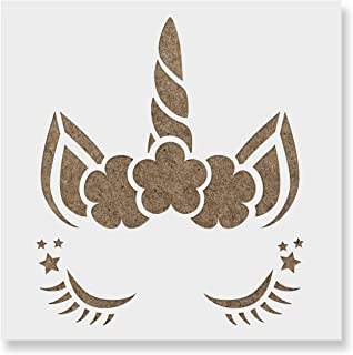 Unicorn Head Stencil Template for Walls and Crafts - Reusable Stencils for Painting in Small & Large Sizes