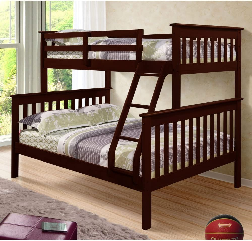 DONCO Bunk Our shop OFFers the best service Luxury goods Bed Twin Over Style in Full Mission Cappuccino