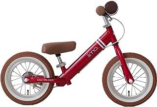ラーニングバイク 12型 エアータイヤ バランスバイク キッズバイク ブレーキ付 JP8700 エタニティレッド