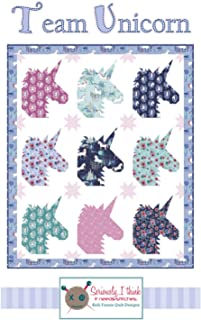 """Team Unicorn Quilt Pattern by Kelli Fannin Quilt Designs from Seriously I Think it Needs Stitches KFQP138-60"""" x 72"""""""