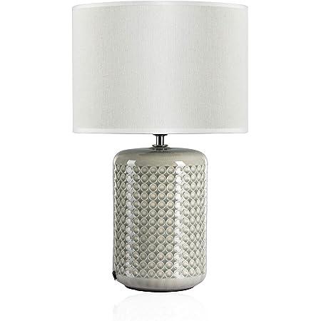 Pauleen Go For Glow Tischleuchte Max 20w Tischlampe Für E27 Lampen Nachttischlampe Grün Beige 230v Keramik Stoff Ohne Leuchtmittel 48020 Beleuchtung