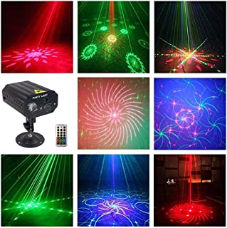 LED Stage Lights Party Lights RGB 3 Lens DJ Disco Stage Laser Light Sound Activated Led Projector for Halloween Christmas Decorations Birthday Wedding Party Gift Karaoke KTV Bar