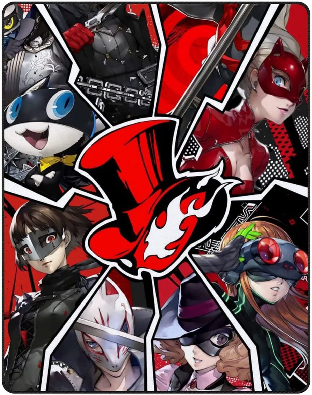 ZFSLYTO Limited time sale Persona 5 Ultra-Thin Soft 3D Blanket Printed Per Ranking TOP5 Fashion