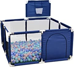 Kinderbox Opvouwbare Babybox Met Basketbalmand Kinderbox Grote Ademende Box Tent Veiligheidshek Baby Veiligheidsspeeltuin ...