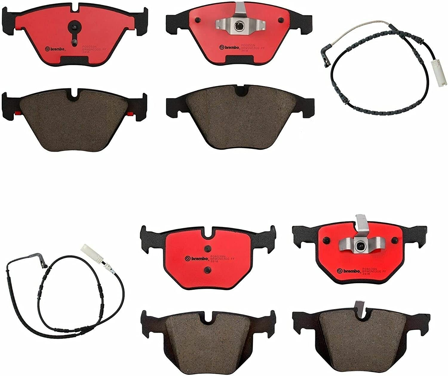 Front Rear Brake Pads Set Ranking TOP9 kit Sensors E90 Compatible with free