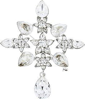 Oscar de la Renta Flower Crystal Brooch