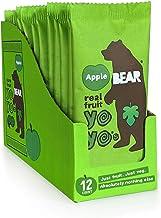 BEAR - Real Fruit Yoyos - Apple - 0.7 Ounce (12 Count) - No added Sugar, All Natural, non GMO, Gluten Free, Vegan - Health...