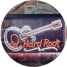 "ADVPRO Guitar Hard Rock Music Dual Color LED Neon Sign White & Orange 24"" x 16"" st6s64-i3295-wo"
