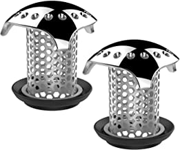 Uxoz 2 Pack Drain Hair Catcher,Stainless Steel Bathtub Drain Protector, Anti-Rust/Long Service Life, Durable Use, Match Drain Sizes from 1.35'' to 1.75'' (2) …