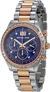 Michael Kors Brinkley Watch For Women - Analog Stainless Steel Band - Mk6205, Quartz Movement