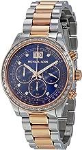 Michael Kors Women's Brinkley Rose-Tone/Navy Blue Stainless Steel Watch