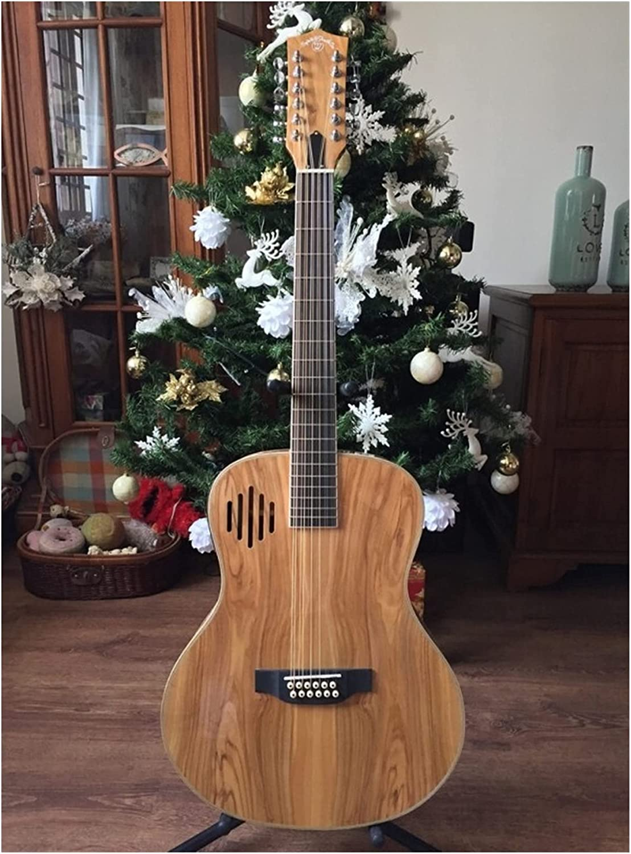 Guitarra 12-cadena personalizada sólido AAA Guitarra de madera europea Guitar oliva Pera de madera 12 cuerdas Guitarra eléctrica acústica adecuada para jugadores en todas las etapas. guitarra de mader