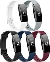 5 Pack Silicone Bands Compatible with Fitbit Inspire HR/Fitbit Inspire/Ace 2, Replacement Sport Bands for Women Men (Small...